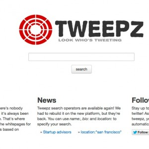Find Twitter followers with tweepz