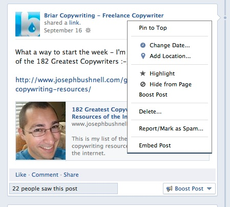 Embedding facebook posts